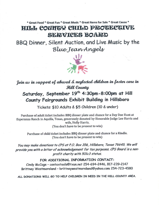 Hill County Child Protective Services Board | Hillsboro Chamber Of