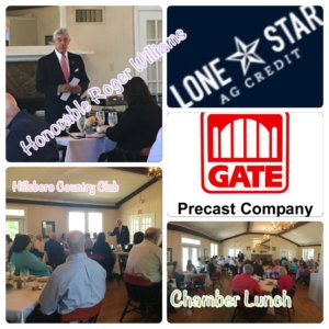 Thank you Gate Precast and Lone Star Ag Credit for sponsoring the combined Chamber Luncheon and Hill County