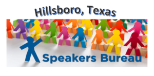 Speakers Bureau @ A Tiskit A Taskit – 71 North Waco – Corner of Waco & Elm