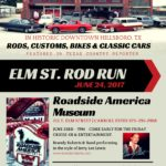 The 7th annual Elm Street Rod Run is a Open Car Show